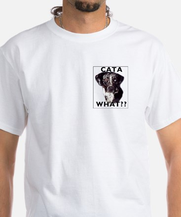 cata WHAT? White T-Shirt