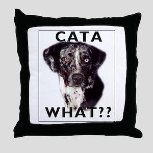 cata WHAT? Throw Pillow