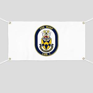 USS Wasp LHD-1 Navy Ship Banner