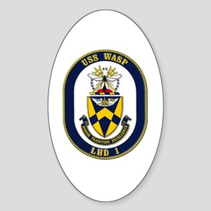 USS Wasp LHD-1 Navy Ship Oval Sticker
