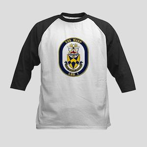 USS Wasp LHD-1 Navy Ship Kids Baseball Jersey
