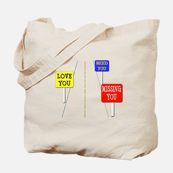 Love Across The Distance Tote Bag