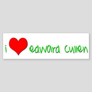 """I (heart) Edward Cullen"" Bumper Sticker"