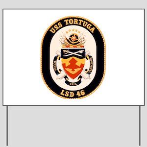 USS Tortuga LSD-46 Navy Ship Yard Sign