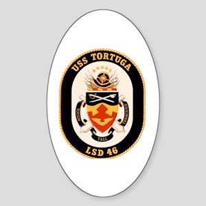 USS Tortuga LSD-46 Navy Ship Oval Sticker