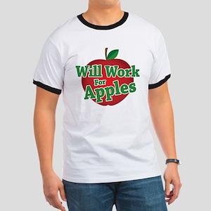 Will Work For Apples Ringer T