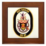USS Shiloh CG-67 Navy Ship Framed Tile