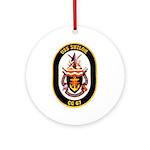USS Shiloh CG-67 Navy Ship Ornament (Round)
