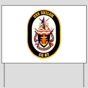 USS Shiloh CG-67 Navy Ship Yard Sign