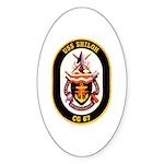 USS Shiloh CG-67 Navy Ship Oval Sticker (50 pk)