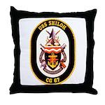 USS Shiloh CG-67 Navy Ship Throw Pillow