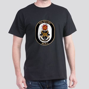 USS Sentry MCM-3 Navy Ship Dark T-Shirt