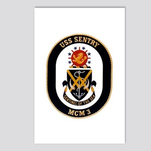 USS Sentry MCM-3 Navy Ship Postcards (Package of 8