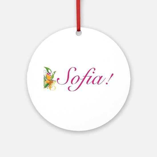 Sofia! Design #1799 Ornament (Round)