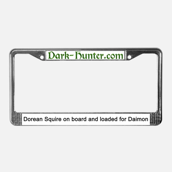 Funny Dark hunters License Plate Frame