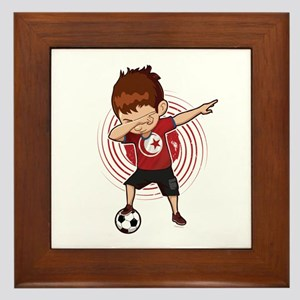 Football Dab Tunisia Tunisian Football Framed Tile