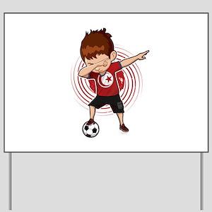 Football Dab Tunisia Tunisian Footballer Yard Sign