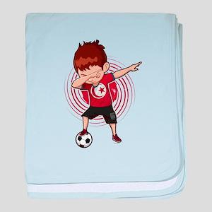 Football Dab Tunisia Tunisian Footbal baby blanket