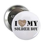 I Love My Soldier Boy Button