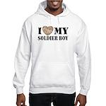 I Love My Soldier Boy Hooded Sweatshirt