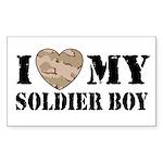 I Love My Soldier Boy Rectangle Sticker
