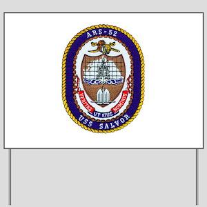 USS Salvor ARS 52 Navy Ship Yard Sign