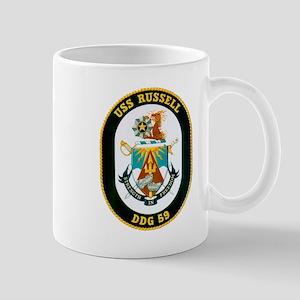 USS Russell DDG-59 Navy Ship Mug