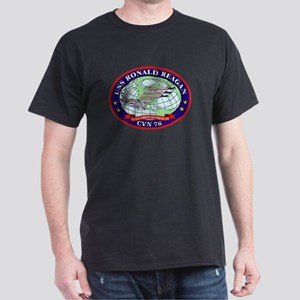 USS Ronald Regan CVN-76 Navy Ship Dark T-Shirt