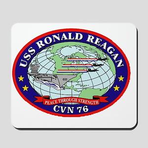 USS Ronald Regan CVN-76 Navy Ship Mousepad
