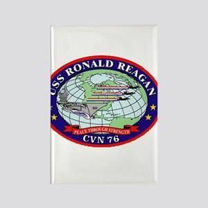 USS Ronald Regan CVN-76 Navy Ship Rectangle Magnet