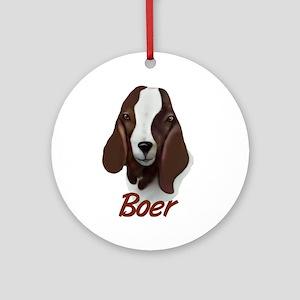 """Boer """"Sasha"""" Ornament (Round)"""