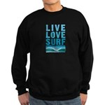 Live, Love, Surf - Sweatshirt (dark)