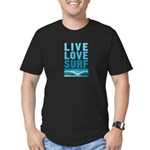 Live, Love, Surf - Men's Fitted T-Shirt (dark)