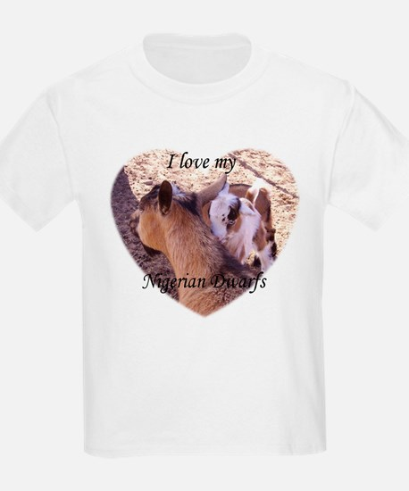 I Love My Nigerian Dwarf GoatsKids Light T-Shirt