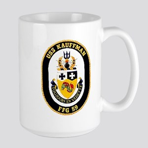 USS Kauffman FFG-59 Navy Ship Large Mug