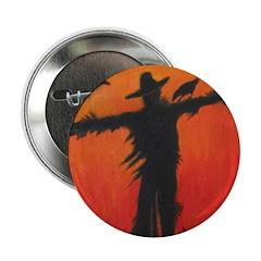 Scarecrow at Dusk - Button