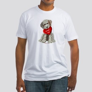 WOOF YOU Doodle Love Fitted T-Shirt