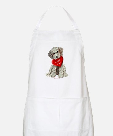 WOOF YOU Doodle Love BBQ Apron