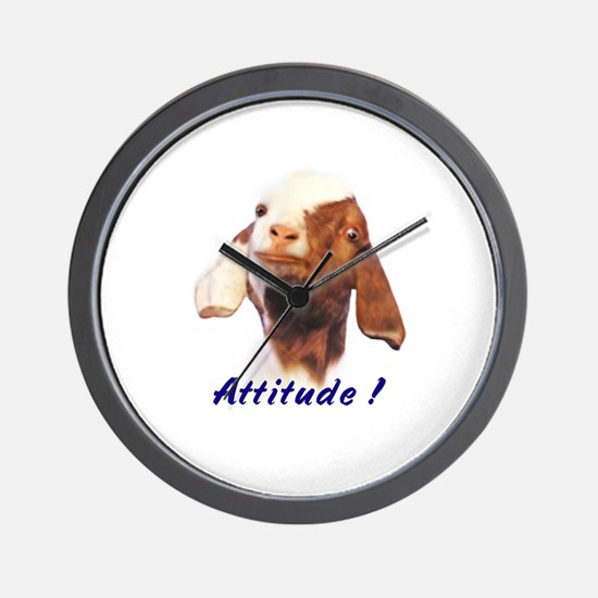 Goat-Boer with Attitude Wall Clock