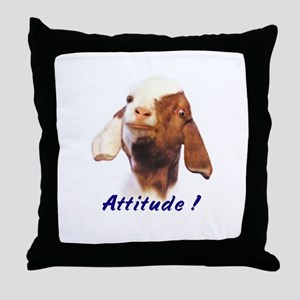 Goat-Boer with Attitude Throw Pillow