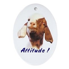 Goat-Boer with Attitude Oval Ornament