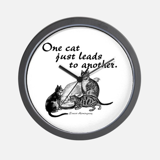 One Cat Wall Clock