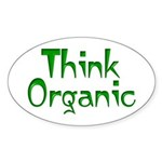 Organically Inclined Oval Sticker