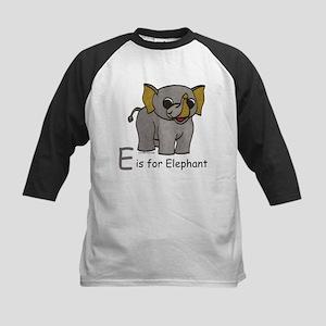 E is for Elephant Kids Baseball Jersey
