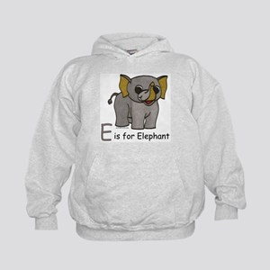 E is for Elephant Kids Hoodie