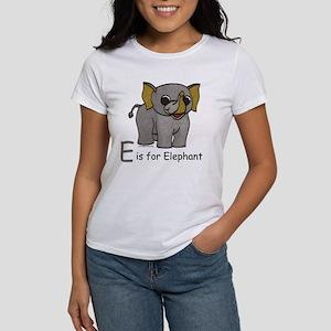 E is for Elephant Women's T-Shirt