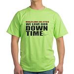 BJJ Down Time Green T-Shirt
