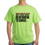 BJJ Down Time Green T-Shirt