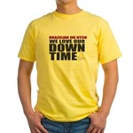 BJJ Down Time Yellow T-Shirt