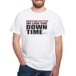 BJJ Down Time White T-Shirt